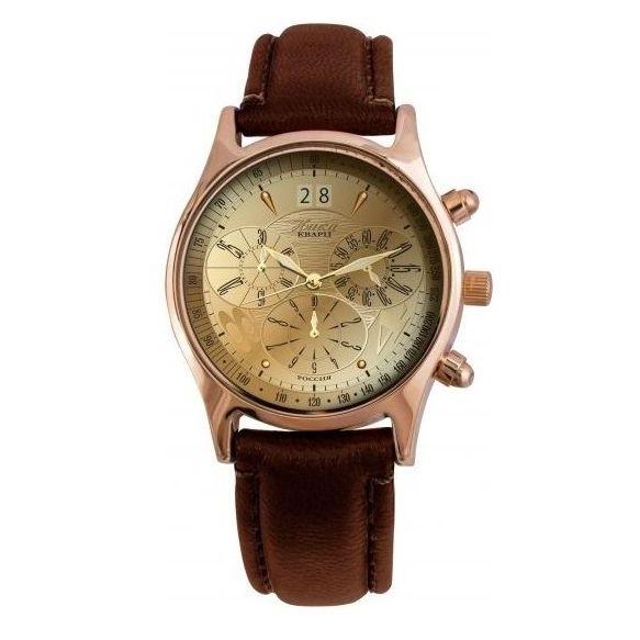 Часы золотые мужские, коллекция «Георгин»