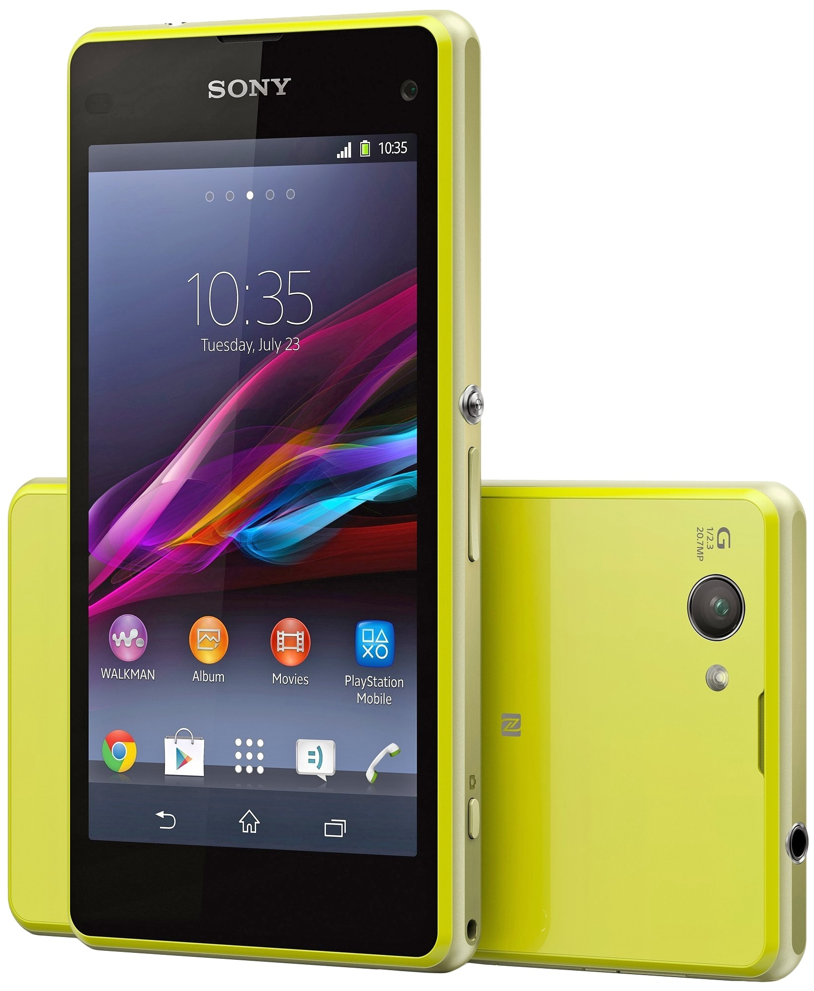 sony xperia z1 compact d5503 lime. Black Bedroom Furniture Sets. Home Design Ideas