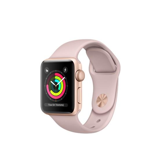 Сравнить цены Apple Watch Series 3 GPS 38mm Gold Aluminum w. Pink Sand  Sport B cf6174a668383