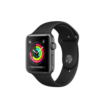 Apple Watch Series 3 GPS 42mm Space Gray Aluminum w. Black Sport B. - Space  Gray (MQL12)  c2e9196838c57