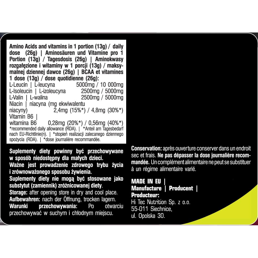 dobra tekstura delikatne kolory niska cena sprzedaży BCAA Powder 500 g -38 servings- Mango Melon