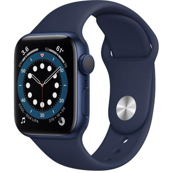 Apple Watch Series 6 GPS 40mm Blue Aluminum Case w. Deep Navy Sport B. (MG143)