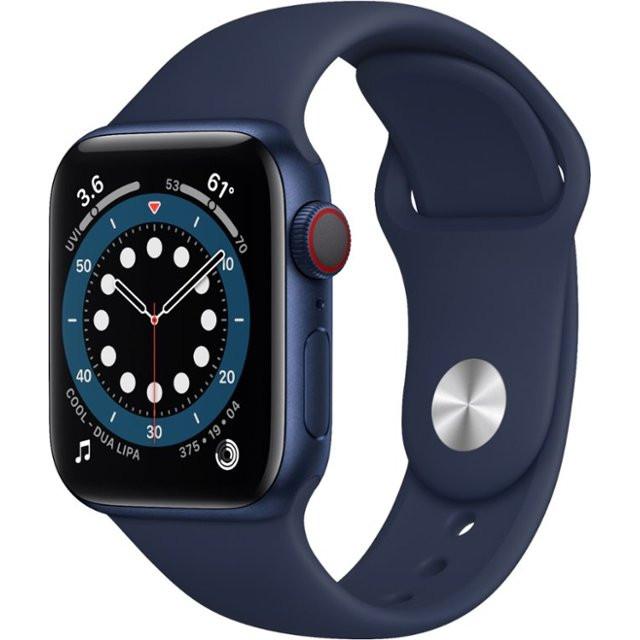 Watch Series 6 GPS + Cellular 40mm Blue Aluminum Case w. Deep Navy Sport B. (M02R3)