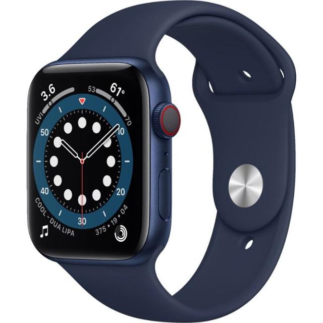 Watch Series 6 GPS + Cellular 44mm Blue Aluminum Case w. Deep Navy Sport B. (M07J3)