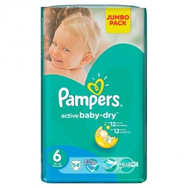 5a2617fdf6d3 Pampers Active Baby-Dry Extra Large 6 (54 шт.)   Сравни цены на ...