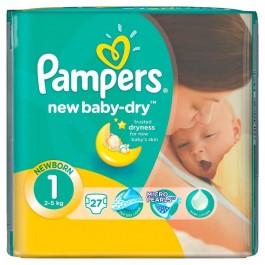 Pampers New Baby-Dry Newborn 1 (27 шт.)   Сравни цены на Hotline.ua ... 08ae1d00b2e