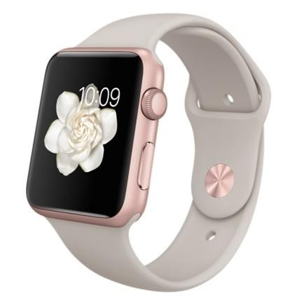 separation shoes 87551 88262 Watch Sport 42mm Rose Gold Aluminum Case with Stone Sport Band (MLC62)